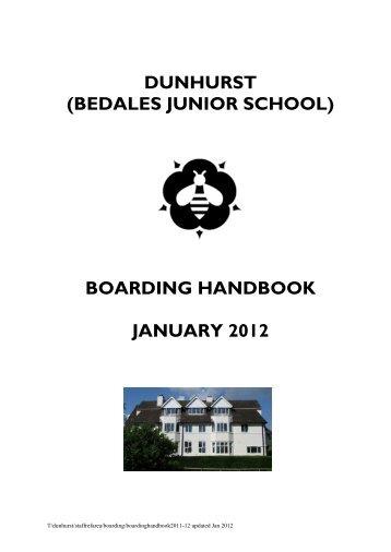 boarding handbook january 2012 - Bedales Schools