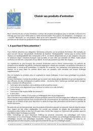 Choisir ses produits d'entretien (PDF - 212.3 ko)