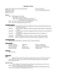 Curriculum Vitae - Buffalo State College Faculty and Staff Web Server