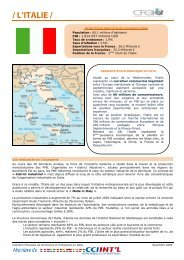 / L'ITALIE / - ILE-DE-FRANCE INTERNATIONAL