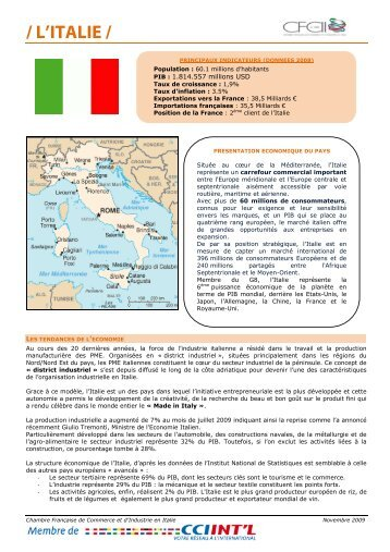 / L'ITALIE / - ILE-DE-FRANCE INTERNATIONAL