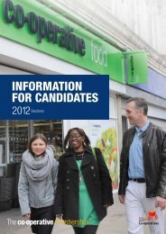 InformatIon for CandIdates - The Co-operative