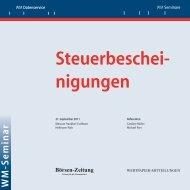 Steuerbeschei- nigungen - WM Seminare