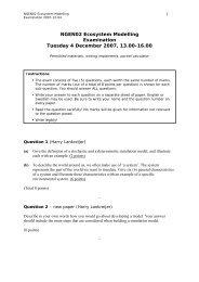 NGEN02 Ecosystem Modelling Examination Tuesday 4 December ...