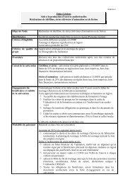 Fiche critères - Région Poitou-Charentes