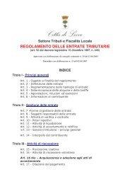 Regolamento Entrate Tributarie - Comune di Lecce