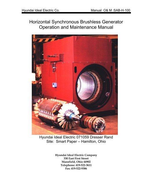 Horizontal Synchronous Brushless Generator Operation And