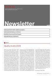 Quality Audits 2008 - OAQ Organ für Akkreditierung und ...