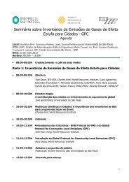 Seminário sobre Inventários de Emissões de Gases de ... - Abema