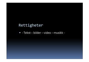 Rettigheter på nett - folkehogskolene.net