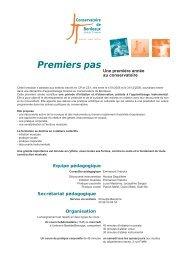 Conservatoire de Bordeaux : informations Premiers pas 2012-2013 ...