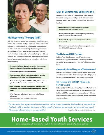 Home-Based Youth Services - Community Solutions Inc.