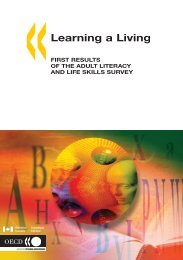 Learning a Living: First Results of the Adult Literacy ... - Lesesenteret