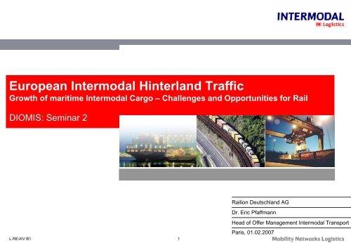 Presentation Railion - E. Pfaffmann - UIC