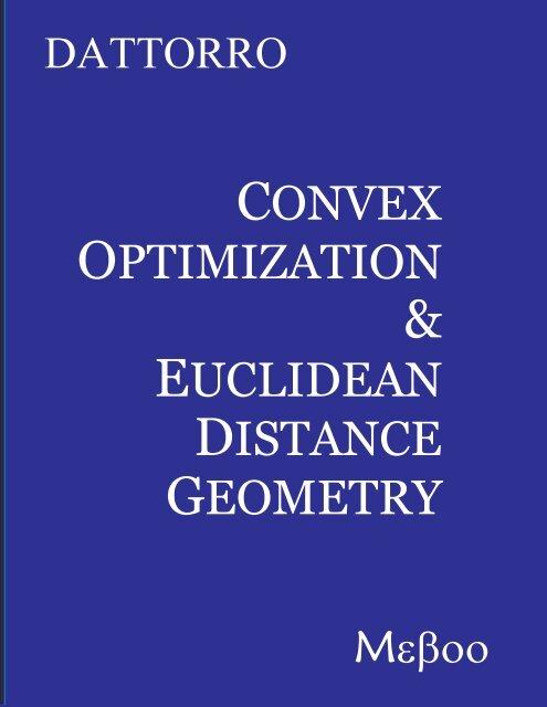 v2006.03.09 - Convex Optimization