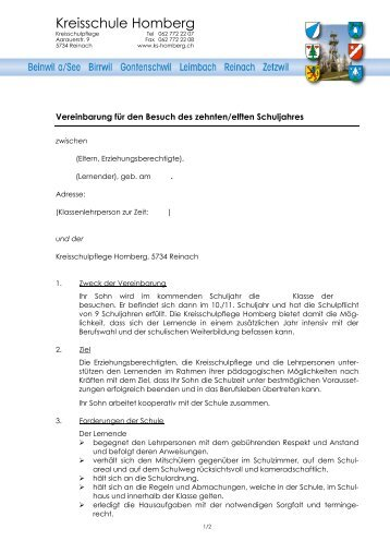 Kreisschule Homberg - Reinach