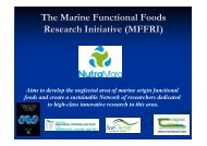 The Marine Functional Foods Research Initiative ... - Marine Institute