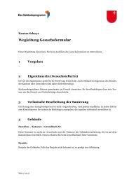 Wegleitung Gesuchsformular - Energie Zentralschweiz