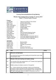 1 Coventry Partnership Business Group Meeting Minutes of the ...