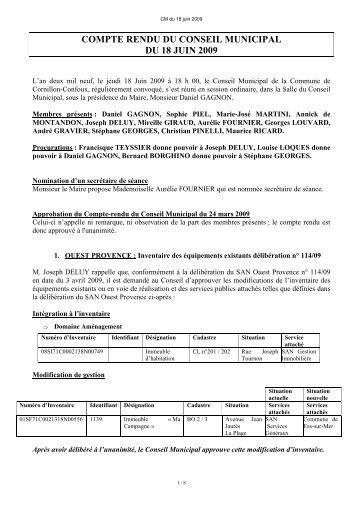 Compte-rendu juin 2009 - Cornillon-Confoux