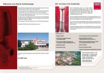 Willkommen in der Welt der Ventiltechnologie ... - GSR Ventiltechnik