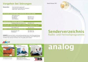 Senderliste Analog-TV [PDF, 2.00 MB] - Ziknet