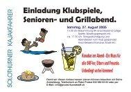 Klubspiele, Senioren- und Grillabend - Solothurner Kajakfahrer