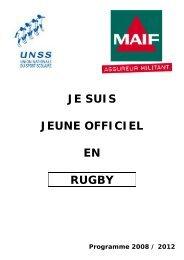 Je suis Jeune Officiel en Rugby 2008.pdf - Académie d'Orléans-Tours