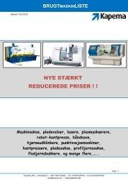 brugtmaskinliste - f.metal-supply.dk