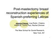 Post-mastectomy breast reconstruction experiences of Spanish ...