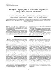 Presurgical Language fMRI in Patients with Drug-resistant Epilepsy ...
