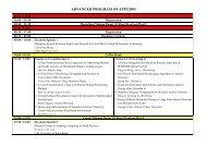 ADVANCED PROGRAM OF APPT2005