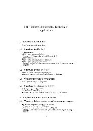 201 - Espaces de fonctions. Exemples et applications 1 Espaces ...