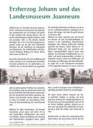 Erzherzog Johann und das Landesmuseum Joanneum