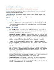 Accounting Careers Committee Meeting Minutes – January 8, 2009 ...