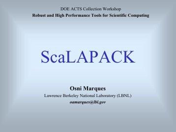 ScaLAPACK - NERSC