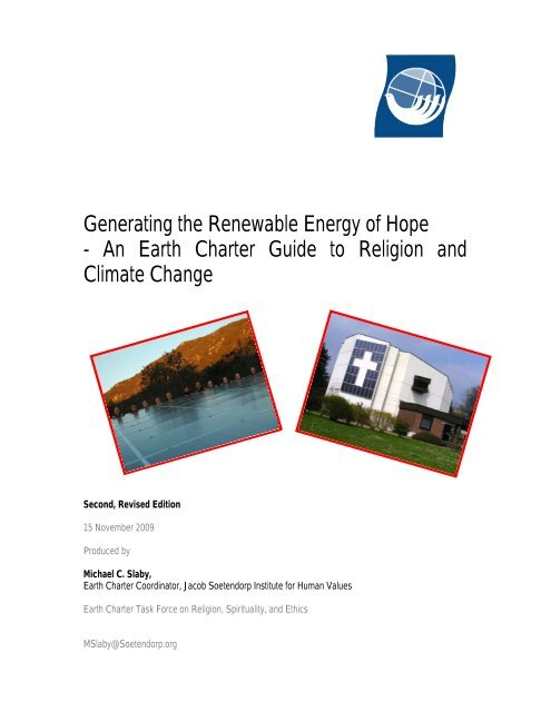 The Earth Charter Guide to Religion and Climate Change