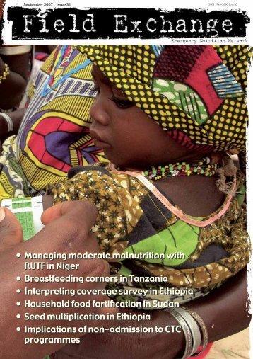 Download PDF - Field Exchange - Emergency Nutrition Network