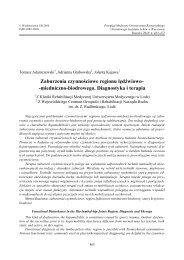 Zaburzenia czynnościowe regionu lędźwiowo - Przegląd Medyczny ...