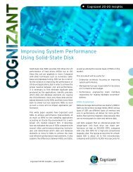 Improving System Performance Using Solid-State Disk - Cognizant