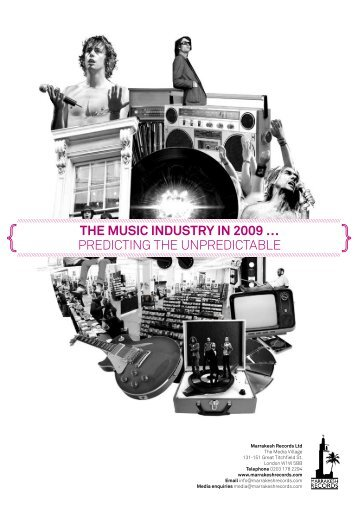 THE MUSIC INDUSTRY IN 2009 … PREDICTING THE ...