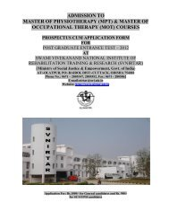 ADMISSION TO - National Institute of Rehabilitation Training and ...
