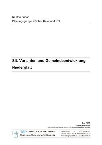 SIL-Varianten und Gemeindeentwicklung Niederglatt