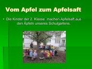 Vom Apfel zum Apfelsaft - Paula Fürst Schule