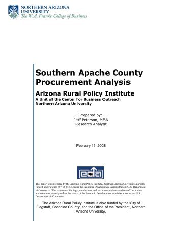 Southern Apache County Procurement Analysis - Northern Arizona ...