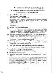 Ogłoszenie o aukcji - PGE