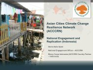 National Engagement and Replication of ACCCRN in Indonesia