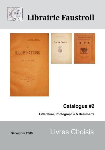 Librairie Faustroll - Livre Rare Book