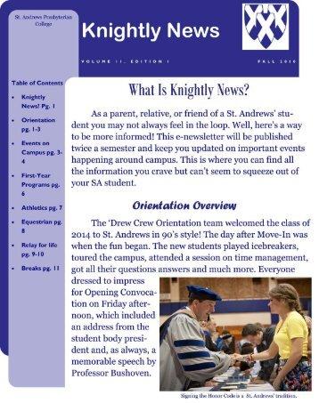 October 2010 Knightly News Final Edit - St. Andrews University