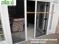 Get customized and highly functional retractable screens at Screen Solutions Inc